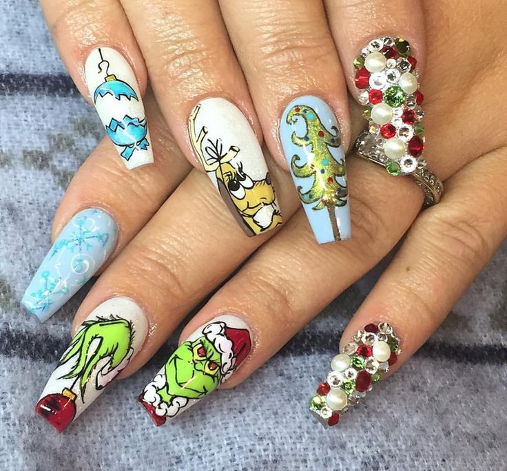 Christmas Acrylic Nails Coffin Shape: 17 Best Images About Square & Coffin Nails On Pinterest