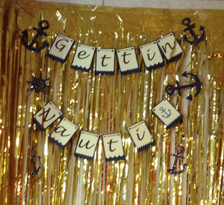 funny bachelorette party sayings for invitations%0A Getting Nauti Bachelorette Party Banner