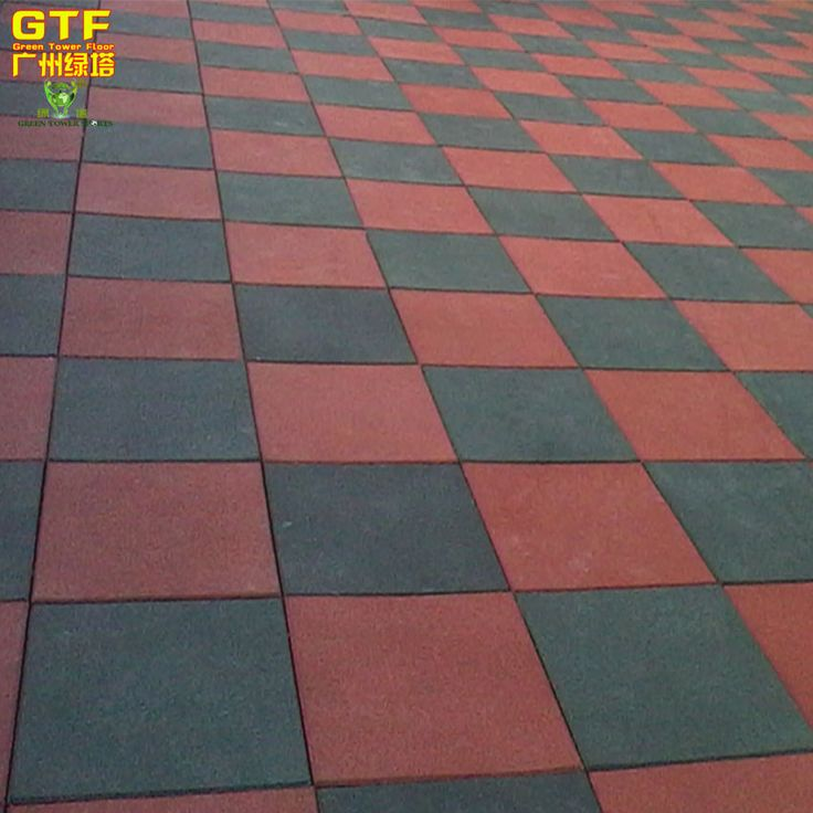 35mm Thickness Kindergarten Playground Rubber Tiles Safety Mat