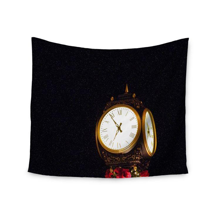 """Robin Dickinson """"Xmas Clock"""" Seasonal Wall Tapestry"""