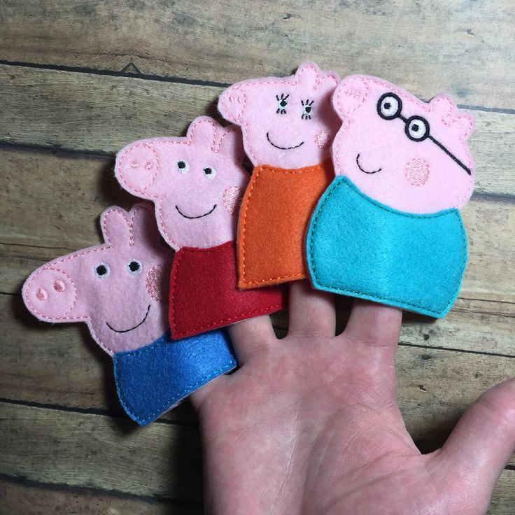 Finger Puppets - Peppa Pig by LilBirdFluffnStuff on Etsy