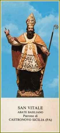 San Vitale, il patrono di Castronovo di Sicilia San Vitale venne al mondo a Kars-nubu (una Castronovo di Sicilia di epoca islamica) nei primi anni del 900. La sua famiglia era di origine bizantina, ricca e di alto lignaggio. Fu battezzato nell'all #astronovodisicilia #kars-nubu #patrono