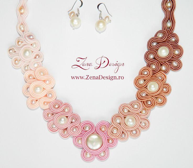 "Pastel necklace ""Romantic"" - pantone necklace, pastel floral trends necklace by ZenaDesign on Etsy"