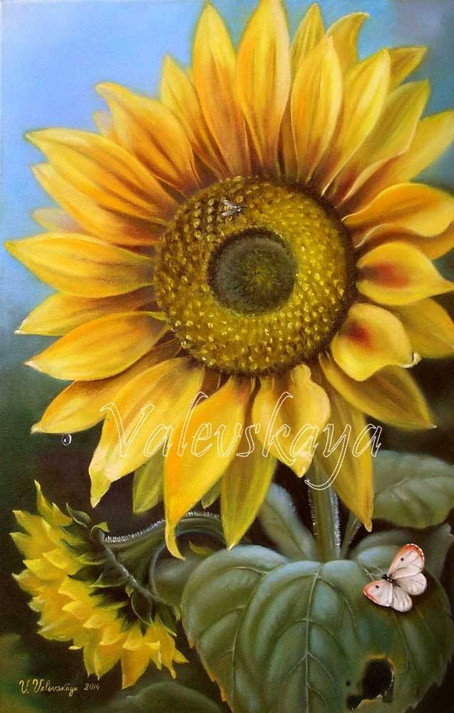 Painting (Picture) : Sunflower.. Author Valentina Valevskaya