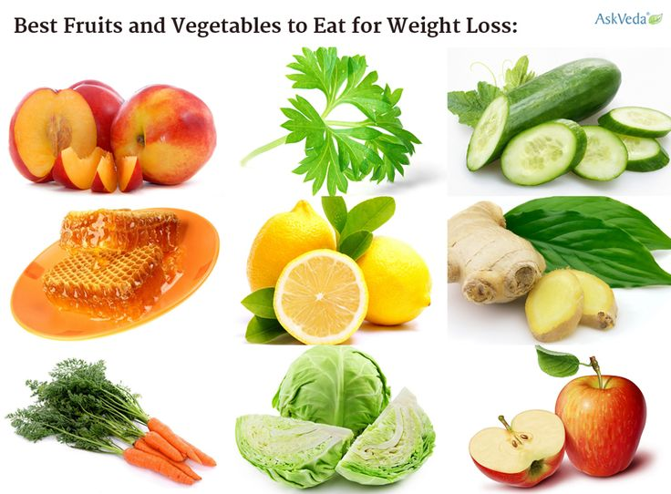 list of healthy fruits and vegetables for weight loss fruits and vegetables list
