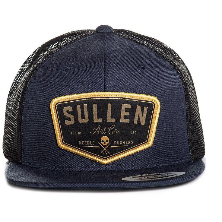Inked Boutique Sullen Trails Snapback Hat Obsidian Skull