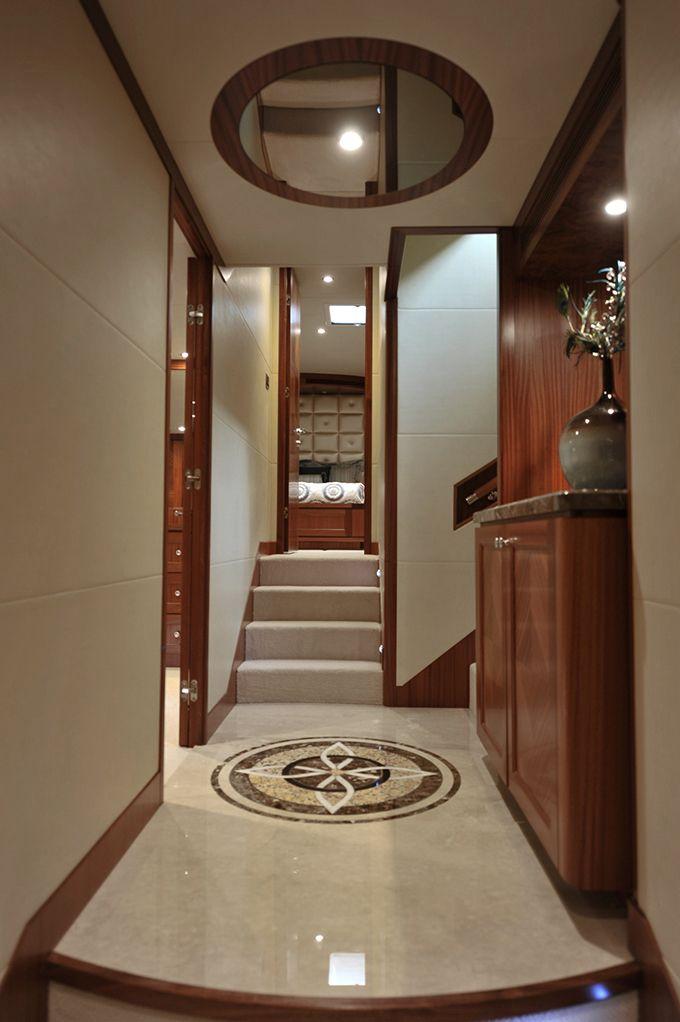 Foyer Luxury Yachts : Ocean alexander lower foyer custom yacht interior