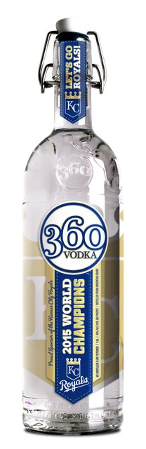 360 Vodka commemorates the Royals' World Series win with a new limited edition bottle, available exclusively in KC.