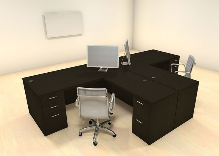 Perfect Two Persons Modern Executive Office Workstation Desk Set, #CH AMB S3 |  Industrial Office, Office Furniture And Desks