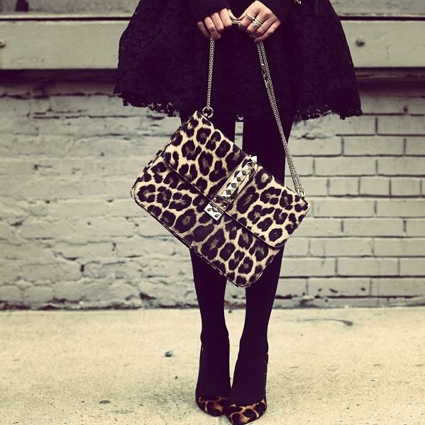 This animal print bag is the business...oh, yesssss