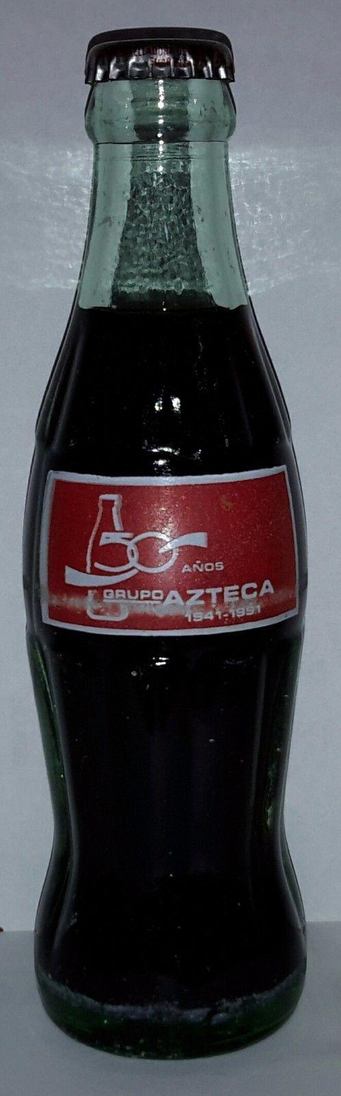 Coca Cola Bottle Mexico Commemorative Grupo Azteca 50 Años RARE | eBay