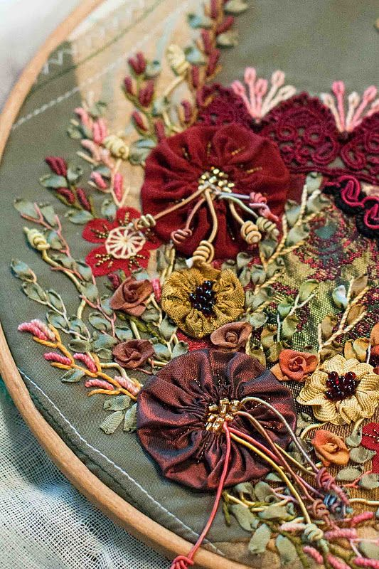 Ribbon Embroidery and stitches