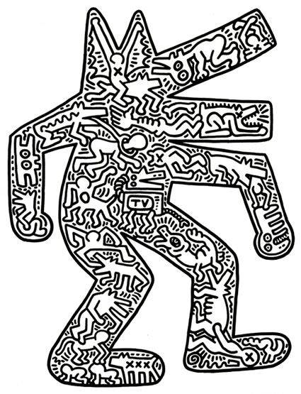 coloriage Keith Haring                                                       …                                                                                                                                                     Plus