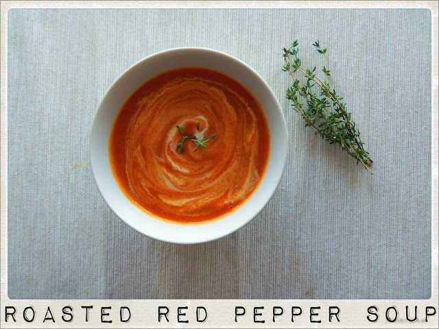 Roasted Red Peppers Cream Soup