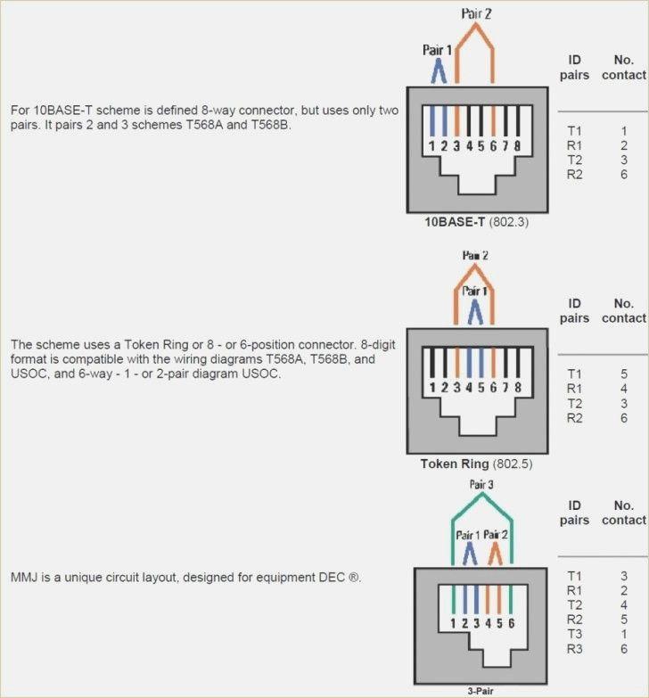 2 Pair Telephone Wiring Diagram