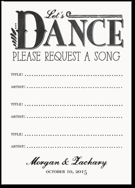 Music request form wedding