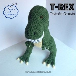 dinosaurio t-rex patron amigurumii