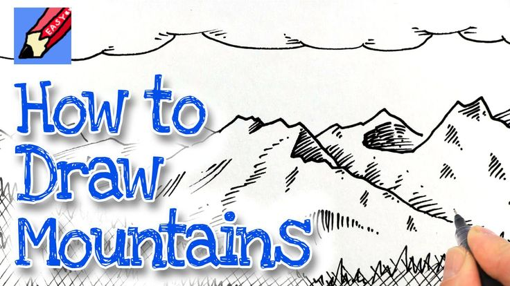 How to Draw Mountains Real Easy