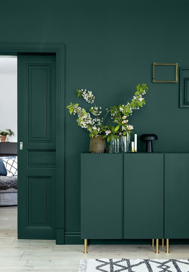 saturated bottle green interior trends color 2021 in on paint colors for 2021 living room id=50248