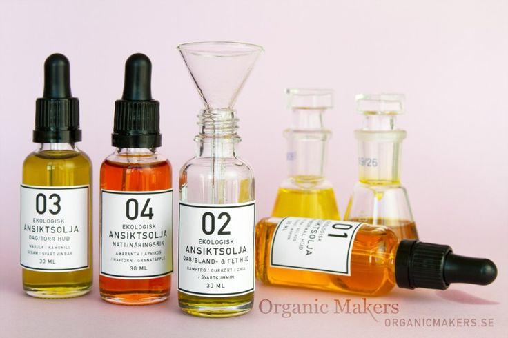 Gör din egen ekologiska ansiktsolja, 4 olika recept!