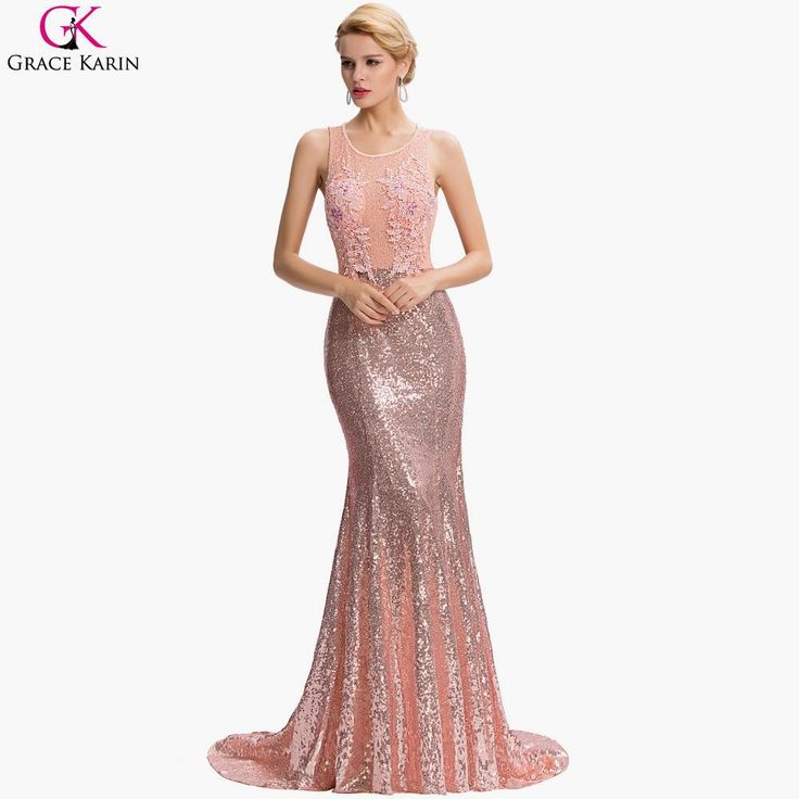 Lace Pink Backless Floor Length Party Dresses Elegant Formal Gowns $77.67 => Save up to 60% and Free Shipping => Order Now! #fashion #woman #shop #diy www.weddress.net/...