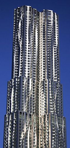 8 Spruce Street Tower, New York City by Frank Gehry :: 76 floors, height 265m