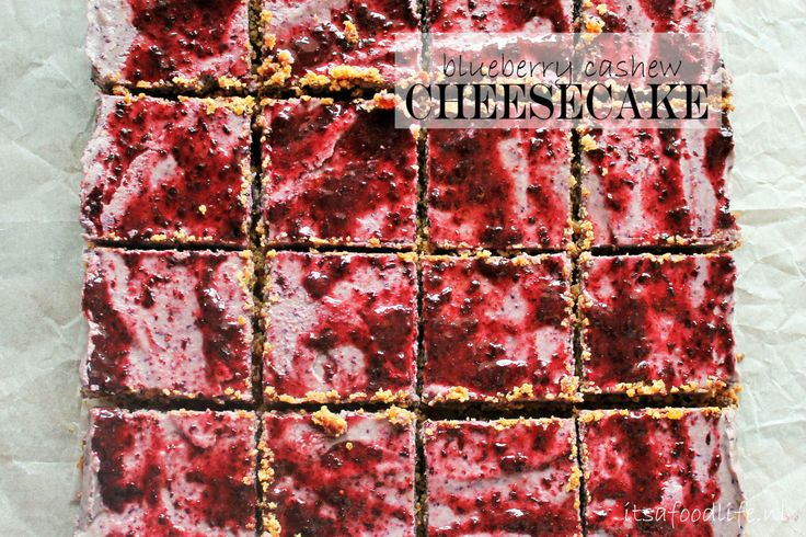 blueberry cashew cheesecake