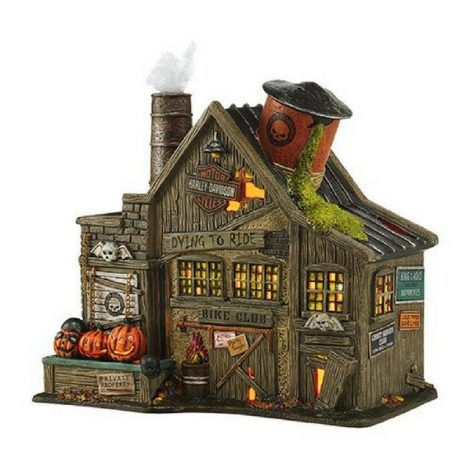 Harley-Davidson Ghost Riders' Club www.teeliesfairygarden.com Rumour has it that the dead Harley-Davidson ghost riders are visiting your Halloween garden! Welcome them to your garden by adding this awesome Harley-Davidson ghost riders' club! It's awesome, right? #fairyhalloween