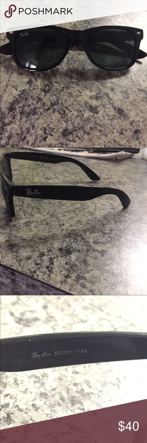Wayfarer Ray Ban sunglasses-large Original Wayfarer Ray Ban sunglasses. 55 mm (large) comes with case and cleaning cloth. Rarely worn. Ray-Ban Accessories Sunglasses