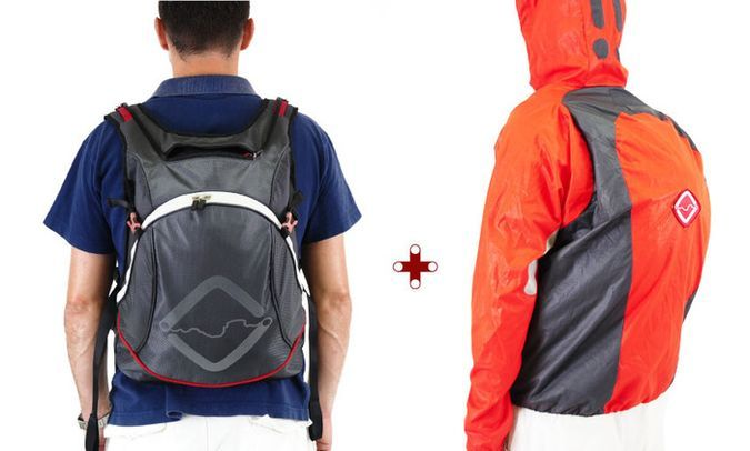 Funnell, The Ejectable Jacket Backpack http://coolpile.com/gear-magazine/funnell-ejectable-jacket-backpack via coolpile.com  #Backpacks #Bags #BikeGear #Clothing #Commute #Cool #Crowdfunding #Gear #Jackets #LaptopBags #MotorcycleGear #Outdoors #Travel #Waterproof #coolpile
