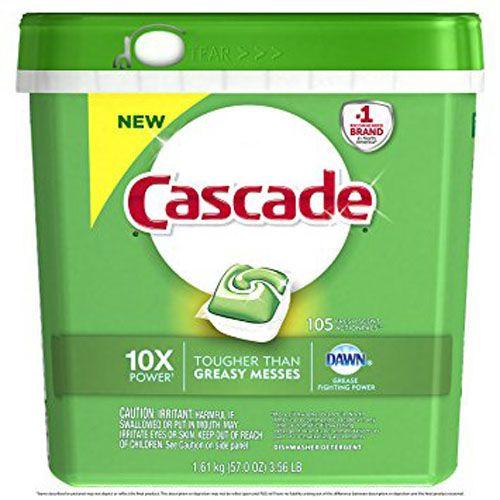 4. Cascade ActionPacs Dishwasher Detergent, Fresh Scent, 105 count