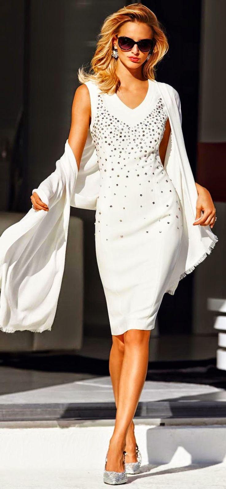 MADELEINE Wool White Dress