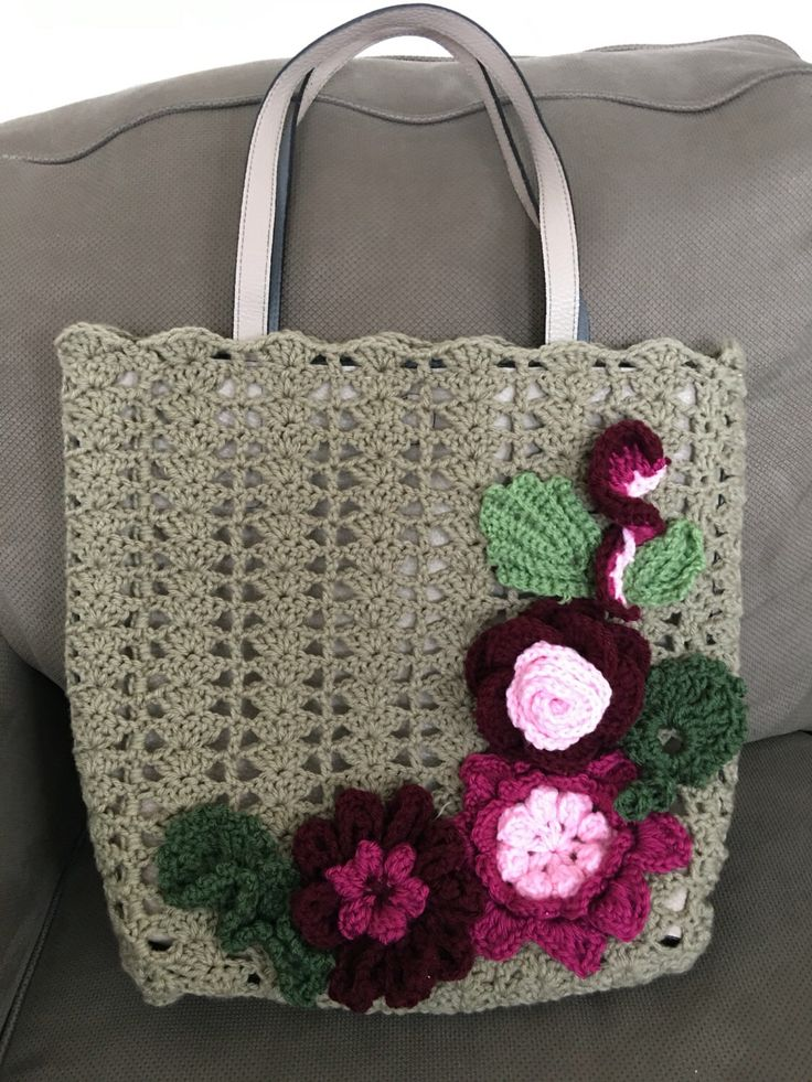 Crochet tote by DadoraShop on Etsy https://www.etsy.com/listing/476644611/crochet-tote
