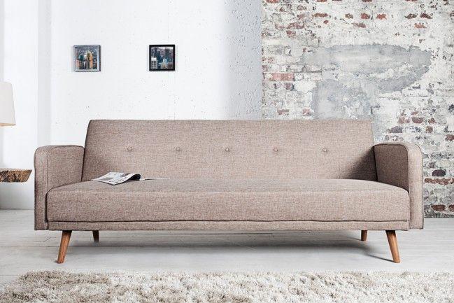 Design Schlafsofa SCANDINAVIA beige mit hochwertigem Aufbau in 210cm  --   Riess-Ambiente.de