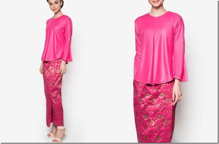 10 Baju Kurung Ideas In Shades Of PINK For Raya 2016 Party Dressing / bold-pink-songket-kurung