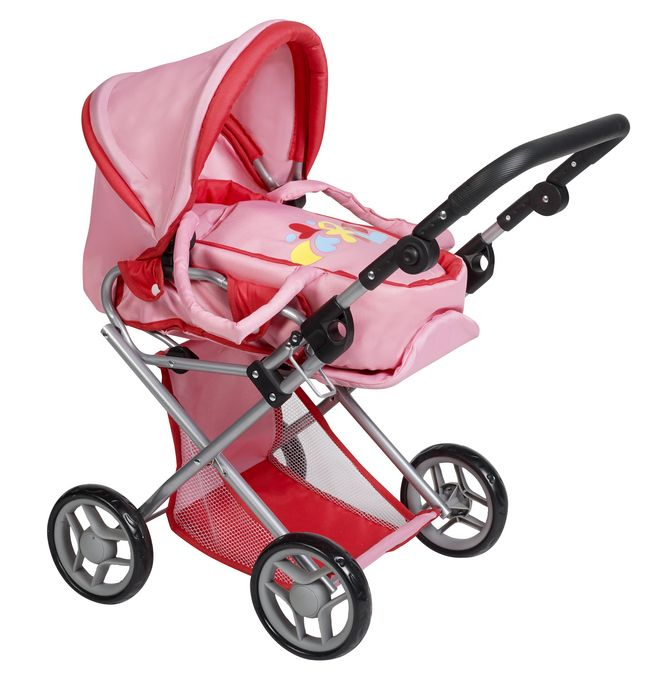 Wat is er beter dan een poppenwagen om je popje overal mee te nemen? Dankzij DreamLand komt je droom uit met deze roze poppenwagen.