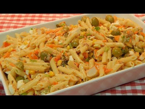 Receta de ensalada completa y sana de macarrones - YouTube