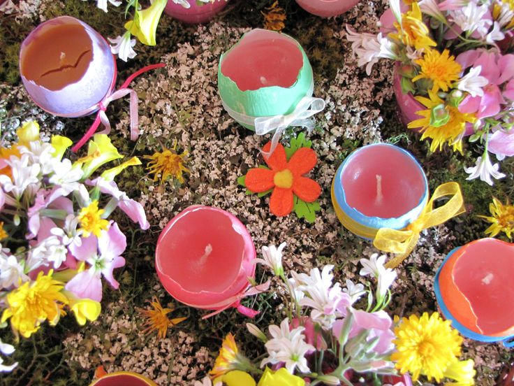 Easter egg candles