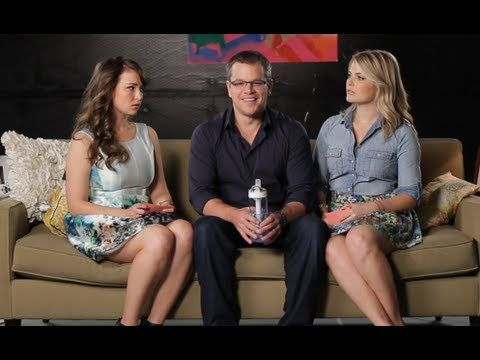 Matt Damon @ Let's Talk About Something More Interesting | Starring and written by: Milana Vayntrub and Stevie Nelson | Guest: Matt Damon repping WATER.Org
