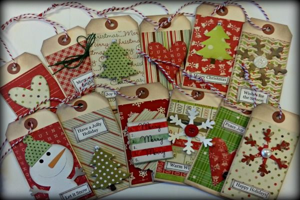 Holly Jolly Tags, christmas tags, handmade