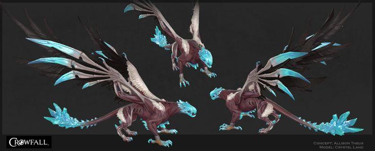 ArtStation - Fall Gryphon for Crowfall, Crystel Land