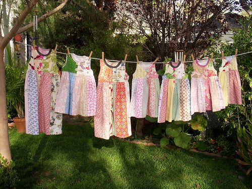 Annual Photograph your childrens' most worn clothing on clothesline for keepsake (wish I started this when they were younger)