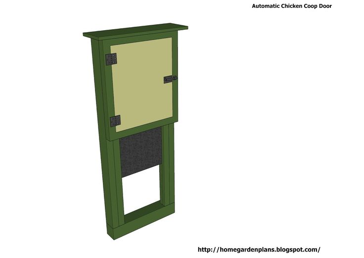 home garden plans: Automatic Chicken Coop Door - Chicken Coop Plans Construction