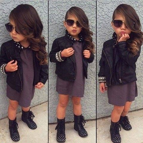 Fashion week Girl Baby with attitude for woman