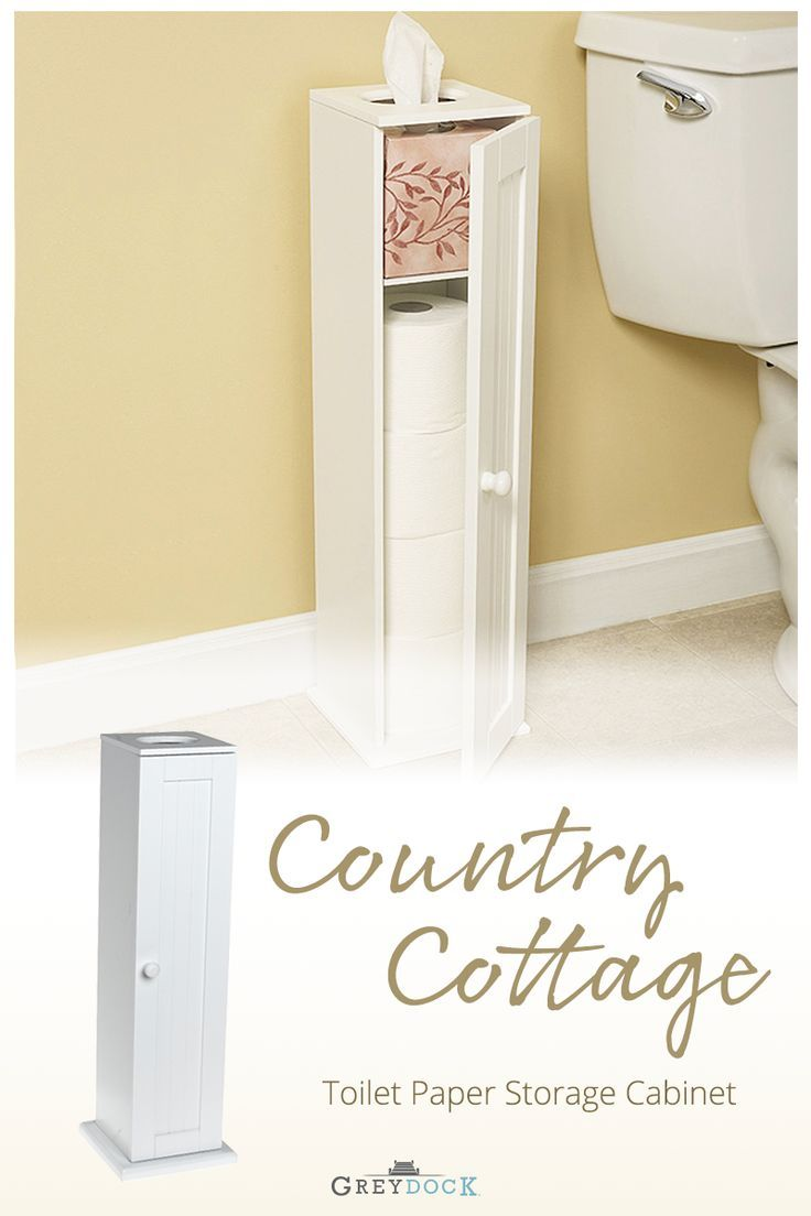 Bennington Country Cottage White Toilet Paper Cabinet Holder Tower Free Standing Wood Toilet Paper Holder Toilet Fabric Shower Curtains