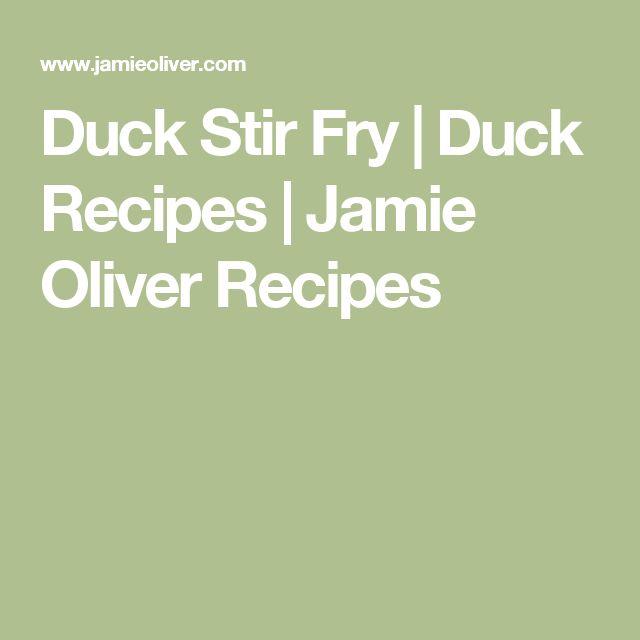 Duck Stir Fry | Duck Recipes | Jamie Oliver Recipes