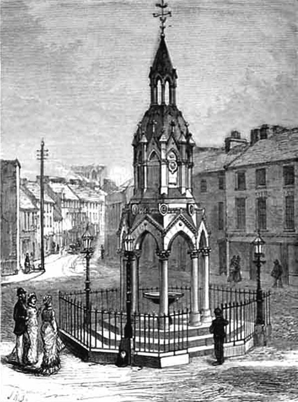 Rossmore Monument just after completion. Look at the Cathedral on the hill under construction.