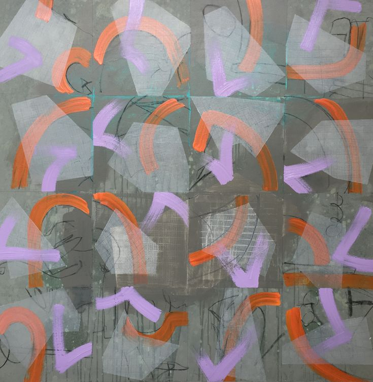 Abstract painting by Charles Inge.  Acrylic on canvas 1m x 1m