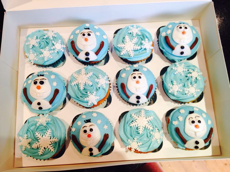 Frozen Cupcakes with Olaf