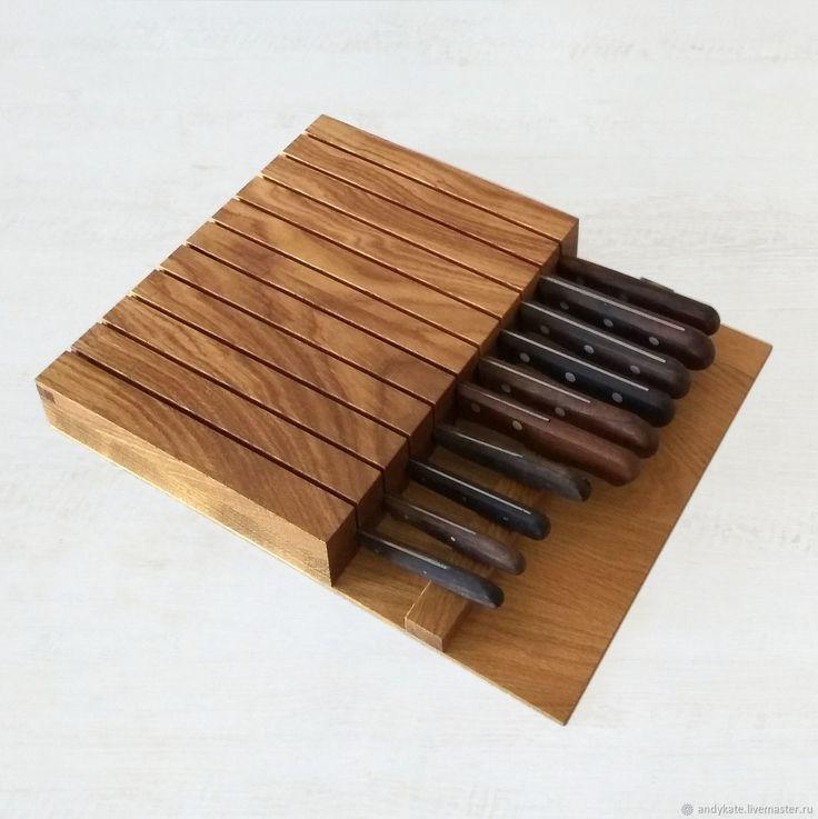 Подставка из дуба для ножей (380х300х50мм) – купить в интернет-магазине на Ярмарке Мастеров с доставкой - FC525RU